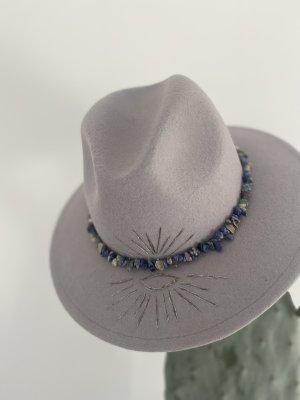 handmade with love Chapeau en feutre gris clair-argenté