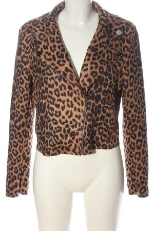 FEE RED Biker Jacket light orange-black leopard pattern casual look