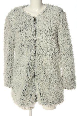 FEE RED Giacca in eco pelliccia grigio chiaro stile casual