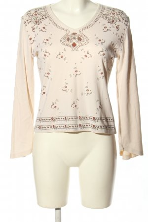 Feel Good Collection Longsleeve pink Blumenmuster Casual-Look