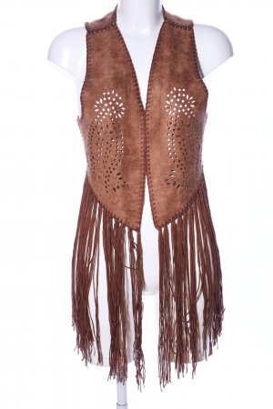 Fringed Vest brown street-fashion look
