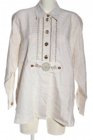 Feelings Linen Blouse white-brown casual look