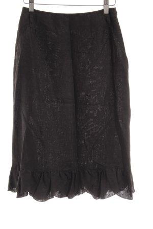 Feelings Linen Skirt black classic style