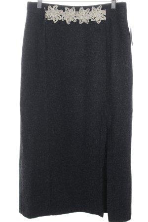 Feelings Wool Skirt black-cream casual look