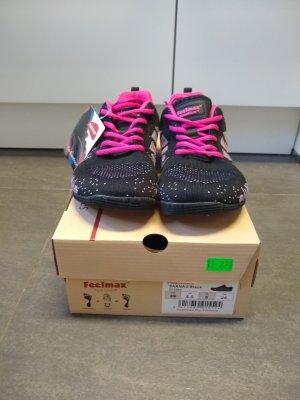 feelmax Wedge Sneaker black-neon pink