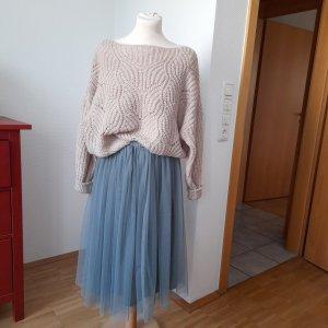 Lace & Beads Tiulowa spódnica jasnoniebieski-szaro-zielony Poliester