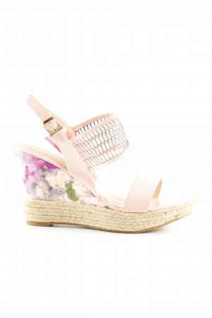 Feida Wedges Sandaletten creme-pink Blumenmuster Casual-Look