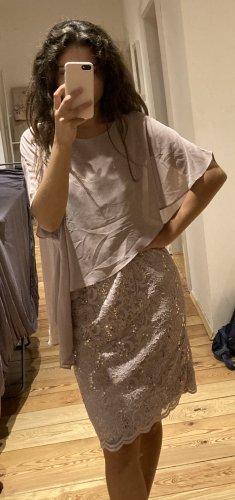 Swing Evening Dress beige polyester