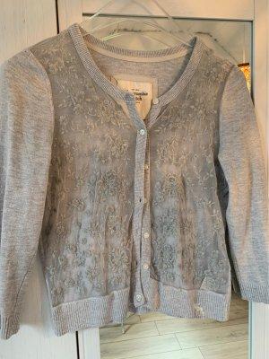 Abercrombie & Fitch Marynarka koszulowa jasnoszary-srebrny