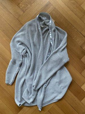 Uterqüe Smanicato lavorato a maglia argento-grigio chiaro