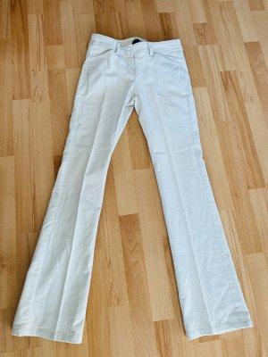 Mango Corduroy Trousers natural white