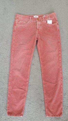 Closed Pantalon en velours côtelé rouge clair