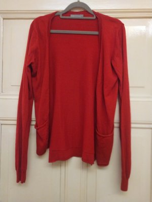 COS Fine Knit Jumper red cotton