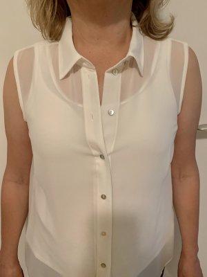 H&M Transparent Blouse natural white