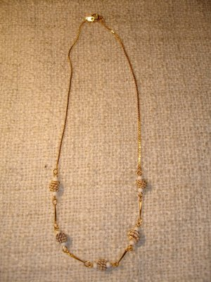 Link Chain gold-colored-natural white
