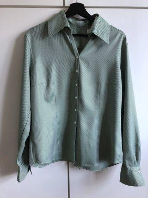 Feine grün-weiß gestreifte Bluse von van Laack