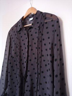 Feine Lang-Bluse mit Punkten