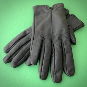 Unbekannte Marke Leather Gloves dark brown leather