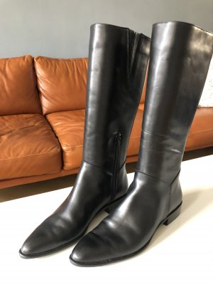 Accatino Wide Calf Boots black leather