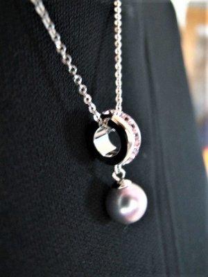 Feine MISAKI Kette ⭐ silber  Perle rosé NEU NP 99,-€
