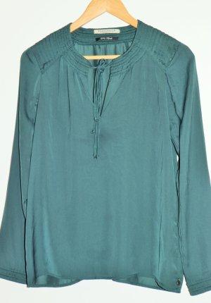 Maison Scotch Blusa de manga larga verde oscuro