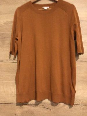 COS Bluzka z krótkim rękawem cognac-rudy