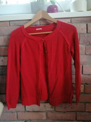 SCOUT Coarse Knitted Jacket red