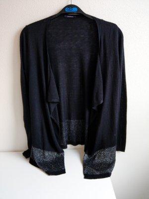 Promod Giacca in maglia nero-argento