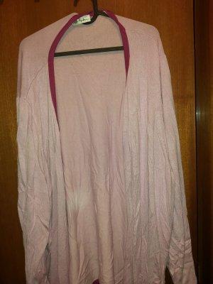 Ulla Popken Giacca in maglia rosa pallido