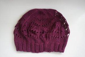 H&M Chapeau en tricot rouge coton