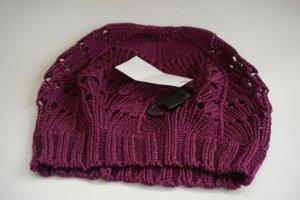 H&M Chapeau en tricot rouge mûre coton