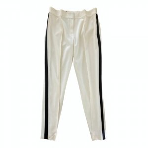 Escada Woolen Trousers natural white-black wool