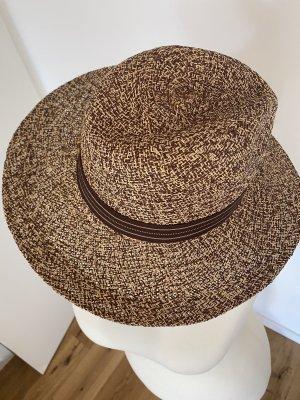 Chapeau panama brun noir-brun