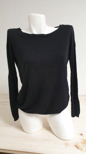 Feiner Pullover Pulli schwarz Gr M