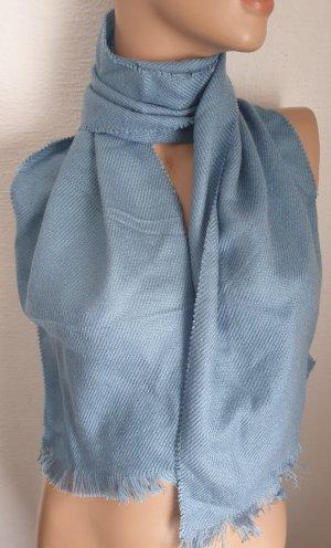 Sciarpa con frange blu