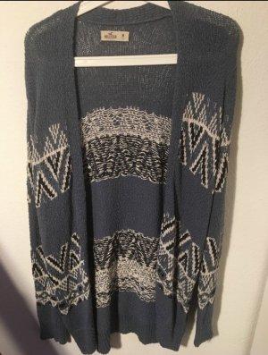 Hollister Crochet Cardigan cornflower blue-white