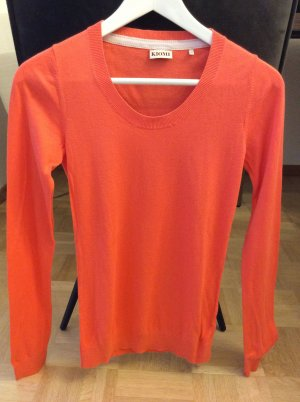 Feiner Strickpulli in Trendfarbe Orange