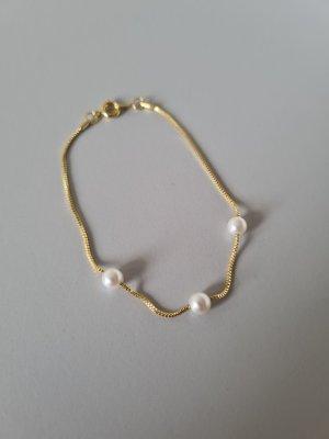 feines goldenes Armband mit Perlen vintage