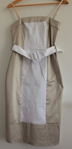Rinascimento Bustier Dress white-oatmeal cotton