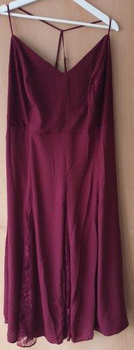 asos curve Sukienka midi ciemnoczerwony