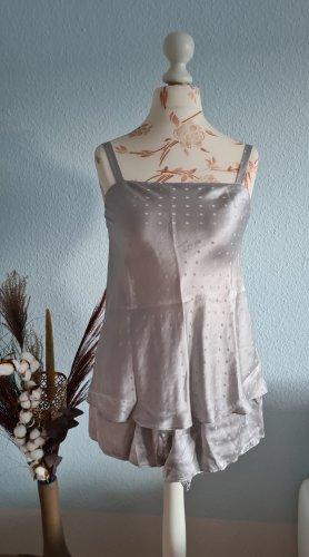 Isadora Negligé color plata-gris claro Seda
