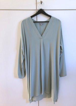 COS Robe chemise gris vert soie