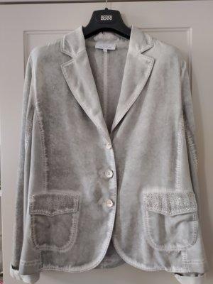 Just White Jersey Blazer light grey-silver-colored lyocell