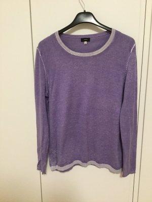 Feines Strickoberteil Pullover washed look lila Wolle angenehm weich