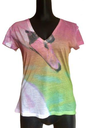 Feines T-Shirt mit Schwanenkopf-Print