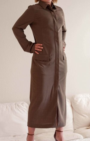 Max Mara Coat Dress grey brown wool