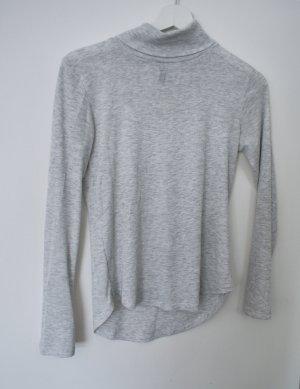 H&M Ribbed Shirt light grey-grey