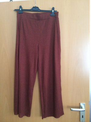 Zara Woman Palazzo Pants cognac-coloured polyester