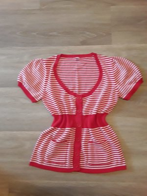 keine Knitted Top white-red
