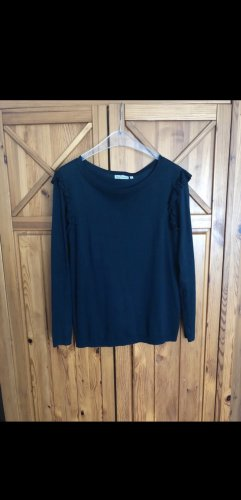 Blue Motion Kraagloze sweater zwart